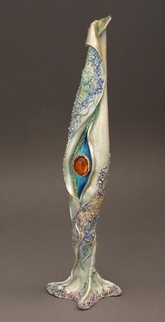 Jeanette Landenwitch- metal clay with resin/enamel