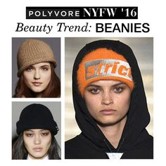 """NYFW Beauty Trend: Beanies"" by polyvore-editorial ❤ liked on Polyvore featuring women's clothing, women, female, woman, misses, juniors, NYFW and pvnyfw"