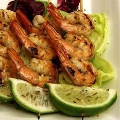 "Grilled Tequila-Lime Shrimp | ""Tried this recipe for the first time yesterday for a party and it was a big hit. The only thing I did different was to let it marinade for about three hours. The shrimp were bursting with flavor."" -Paul Maione"