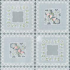 Tablecloth Vinyl-Squares Floral