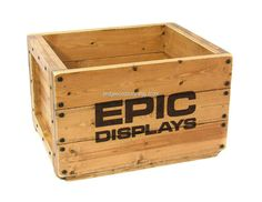 Wood Crate Wooden Box Monogrammed Wooden Crate by BridgewoodPlace
