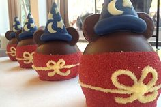 Mickey candied apples