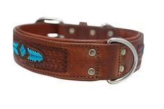 Sierra Rawhide Weave Leather Dog Collar