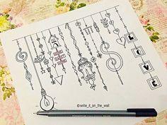 """291 tykkäystä, 2 kommenttia - Rita Palermo, Sicily (@writeitonthewall) Instagramissa: """"doodles_pendants #pendant #icon #bulletjournal #stationary #stationaryaddict #handlettering…"""""""