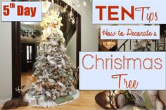 10 Steps to Decorating a BEAUTIFUL Christmas Tree | 5th Day of Christmas...