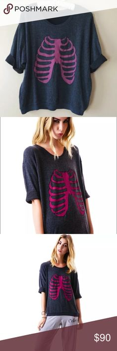WILDFOX SKELETON HALLOWEEN JUMPER In good condition, only worn once. Wildfox Sweaters Crew & Scoop Necks