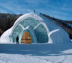 The Aurora Ice Museum - at Chena Hot Springs resort ... about 60-miles north of Fairbanks, Alaska - way far north from where we will be but why not!