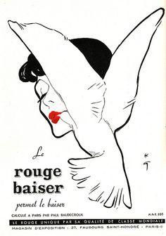 1949 Rouge Baiser Paris, René Gruau | Flickr: partage de photos!