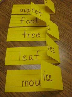 How Cute And Easy! Teaching plurals- easy to make by simply folding sentence strips! How awesome! Teaching plurals- easy to make by simply folding sentence strips! How awesome! Teaching Language Arts, Speech And Language, Teaching English, Teaching Spanish, Spanish Language, French Language, Spanish Practice, Foreign Language, Japanese Language