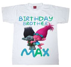 trolls birthday shirt brother shirt brother by WishesandkissesCo