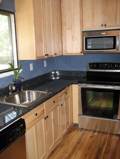 Blue Pearl Granite Kitchen Countertop Island Installed Finished Granix .
