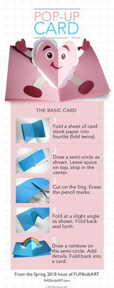 Pop-Up Valentine's Card, RADkidsART