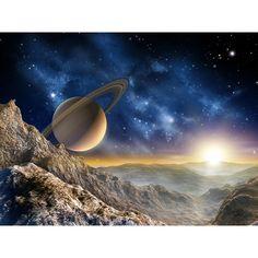 Fotomurales Decorativos - Fotomural de Planetas del Espacio - Fotomural Saturno