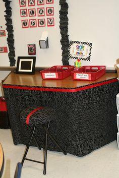 Second Grade Chatter: Classroom Reveal and Monday Made It Apple Theme Classroom, Red Classroom, Mickey Mouse Classroom, Polka Dot Classroom, Disney Classroom, 2nd Grade Classroom, Classroom Setup, Classroom Design, Kindergarten Classroom