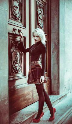 """The Unknown"" —  Photographer: Andrea Cantova - N_Drew Stylist/Makeup/Model: Daria Kolesnikova  #DarkBeauty #DarkBeautyMag #photography"