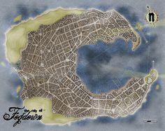 Fogdown by Redstar Fantasy City Map, Fantasy World, Grid Tool, Pen & Paper, Imaginary Maps, Village Map, Rpg Map, Line Tools, Adventure Map
