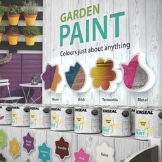 Ronseal Garden Paint rebrand and packaging | Michon Creative