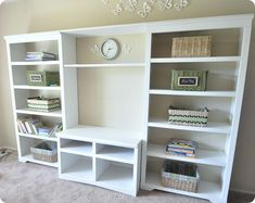 TV Stand & Two Bookcases - Great Transformation & Tutorial
