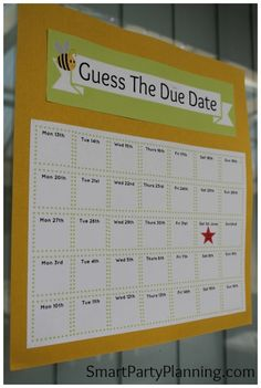 Guess the due date of the baby #BabyShowerIdeas