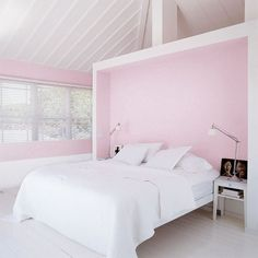 Pink isn't just for little girls. When paired with minimalist furnishings, white paint, and loads of natural light, it serves as an uplifting neutral perfectly suited for adults.