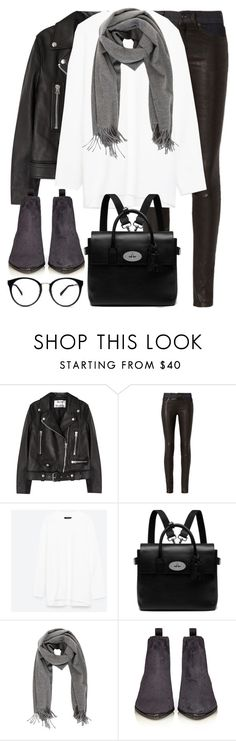 """Untitled #2872"" by elenaday ❤ liked on Polyvore featuring Acne Studios, rag & bone and Mulberry"