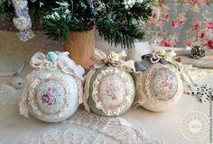 Шарики Rococo - Декупаж,Новый Год,шар,новогодний шар,елочный шар,елка