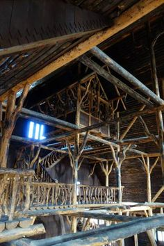 The Crow's Nest or Tree House on the top level of Yellowstone's Old Faithful Inn.
