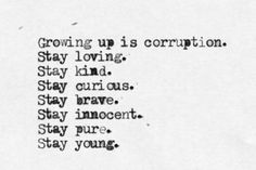 stay loving, stay young