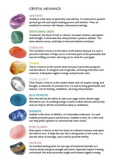 Properties of Stones and Crystals | Crystal properties by tracy sam