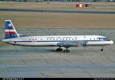 LOT Polish Airlines Ilyushin Il-18E SP-LSG at Düsseldorf-Lohausen, May 1976. (Photo: Daniel Tanner)