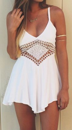 Summer Outfit - I love this white dress ♡
