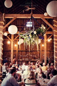 Hanging Chandelier example from our Barn.  Arbor Photographics.  This is my favorite one.