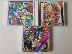 Dreamcast Japanese Capcom Games  #retrogaming #HotDC  3 of them: Marvel Vs. Capcom 1 & 2 and Power Stone 2. Good price atm.