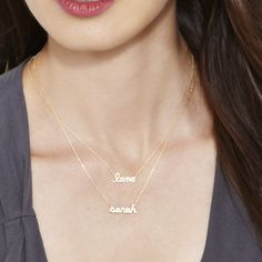 Customised Name Necklace 20190522 - May 22 2019 at Name Necklace Silver, Custom Name Necklace, Personalized Necklace, Nameplate Necklace, Gold Jewelry Simple, Simple Necklace, Short Necklace, Gold Mangalsutra Designs, Schmuck Design