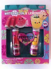 Lotta Luv Lip Balm  Picnic Pals 2 pc Set Watermelon and Lemon SUPER CUTE
