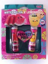 Lotta Luv Lip Balm  Picnic Pals 2 pc Set Watermelon and Lemon SUPER CUTE