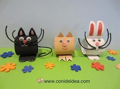 Animales de cartón