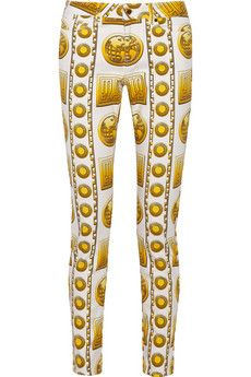 Versus Printed mid-rise skinny jeans | THE OUTNET