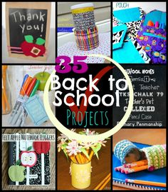Small Things: 35 Back to School Projects from Small Things with Love #backtoschool #backtoschoolprojects
