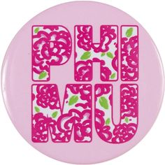 Blossom Phi Mu Pin Phi Mu, Relay For Life, Senior Gifts, Fraternity, Little Gifts, Magnets, Buttons, Floral, Pink