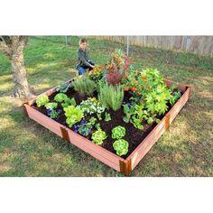 "Classic Sienna Raised Garden Bed 8' x 8' x 11"" – 1"" profile, Brown"