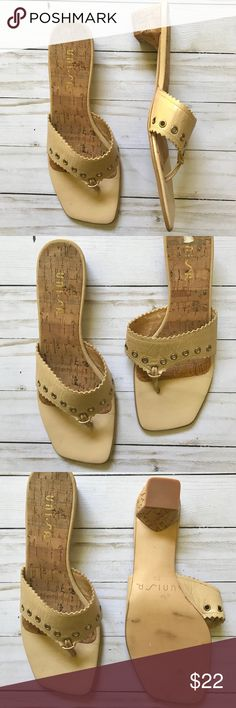 Unisa Tan Leather Sandal Heel Unisa Tan Leather Sandal Heel  Excellent Used Condition Size 7B Unisa Shoes Sandals