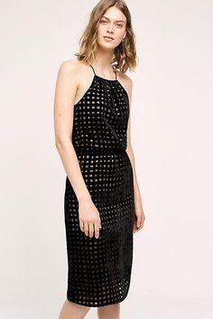Charlotte Velvet Halter Dress