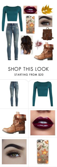 """Fancy fall"" by lissib1096 ❤ liked on Polyvore featuring RE/DONE, Charlotte Russe, Casetify, Patricia Nash, Fall, cute, Trendy, pumpkinspice and fall2017"