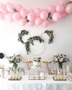 : #bedroomdecor #valentinesdaydecorations 2nd Birthday Party For Girl, Safari Birthday Party, Minnie Birthday, Baby Party, Birthday Party Decorations, Minnie Mouse Decorations, Birthday Cards, Second Birthday Ideas, Decoration Party