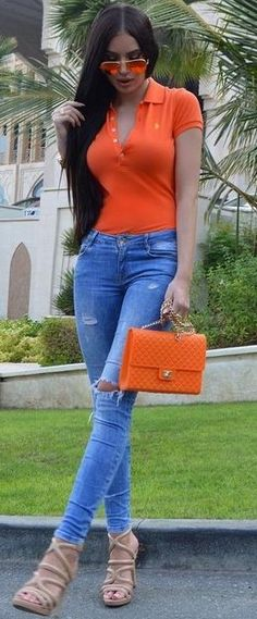 Orange + Denim                                                                             Source