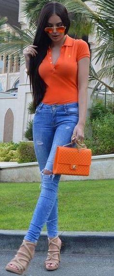 Orange + Denim