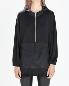 Image 1 of HOODED SWEATSHIRT WITH POUCH POCKET from Zara