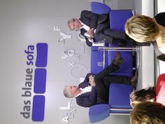 Anthony McCarten auf dem Blauen Sofa | FBM 10.10.12 by Das blaue Sofa, via Flickr Ladies Night, Anthony Mccarten, Plymouth, Sofa, Names Of God, Heroes, Blue, Settee, Girl Night