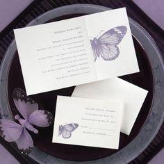 creative wording for wedding invitations, butterfly wedding invitations, purple butterfly wedding invitations, stunning wedding invitations